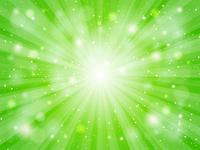 緑 放射状 光 キラキラ 背景