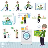 flat type green Coach jacket man_housekeeping
