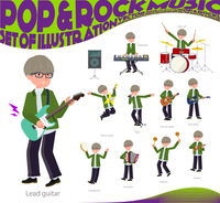 flat type green Coach jacket man_pop music