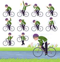 flat type green Coach jacket man_road bike