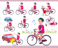flat type pink shirt man_city cycle