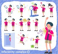 flat type pink shirt man_complex