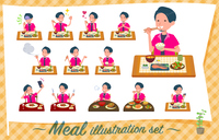flat type pink shirt man_Meal