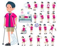 flat type pink shirt man_sickness