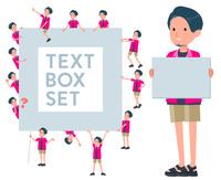 flat type pink shirt man_text box