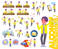 flat type yellow Parker man_alcohol