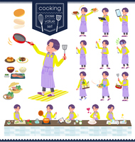 flat type yellow Parker man_cooking