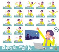 flat type yellow Parker man_desk work