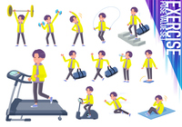 flat type yellow Parker man_exercise