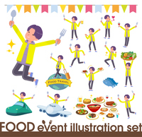 flat type yellow Parker man_food festival