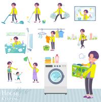 flat type yellow Parker man_housekeeping