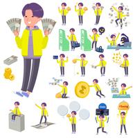 flat type yellow Parker man_money