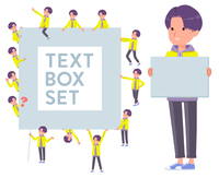 flat type yellow Parker man_text box
