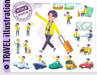 flat type yellow Parker man_travel