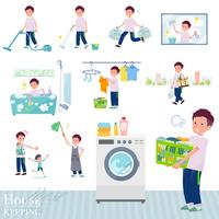 flat type big T-shirt man_housekeeping