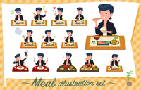 flat type Bad student boy_Meal