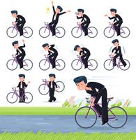 flat type Bad student boy_road bike
