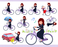 flat type Bad student girl_city cycle