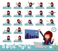 flat type Bad student girl_desk work