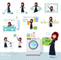 flat type Bad student girl_housekeeping