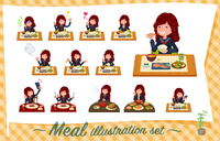 flat type Bad student girl_Meal