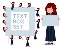 flat type Bad student girl_text box