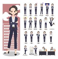 ビジネス女性のキャラクター