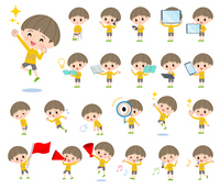 Yellow clothing boy_Action