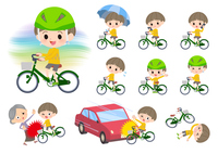 Yellow clothing boy_city cycle