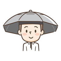 かぶる日傘