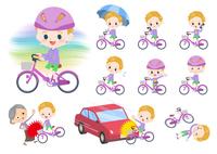 blond hair boy_city cycle