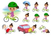 perm hair girl_city cycle