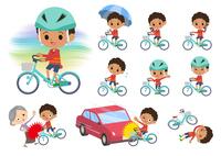 perm hair boy_city cycle
