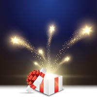 クリスマスのプレゼントと輝く星