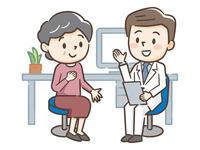 男性医師とシニア女性