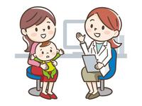 女性医師と母親と赤ちゃん