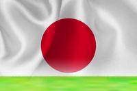 日本  国旗 グランド 背景