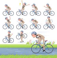 flat type beige tuxedo men_road bike