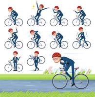 flat type blue tuxedo men_road bike