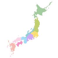 日本 地図 ドット アイコン