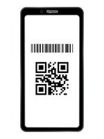 QRコード決済するスマートフォンの画面
