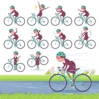 flat type glasses office women_road bike
