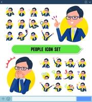 flat type glasses Honest man_icon