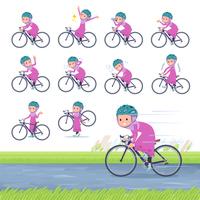 flat type Arab girl_road bike