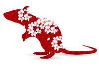 子 年賀状 桜 アイコン