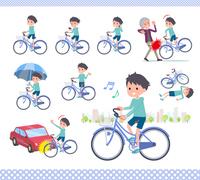 flat type blue clothing boy_city cycle