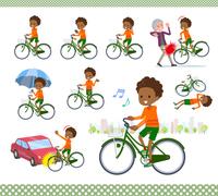 flat type perm hair boy black_city cycle