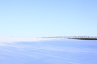 雪原と青空