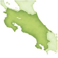 コスタリカの地図