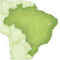 ブラジルの地図